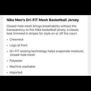 Nike Shirts - NIKE DRI-FIT Basketball tank